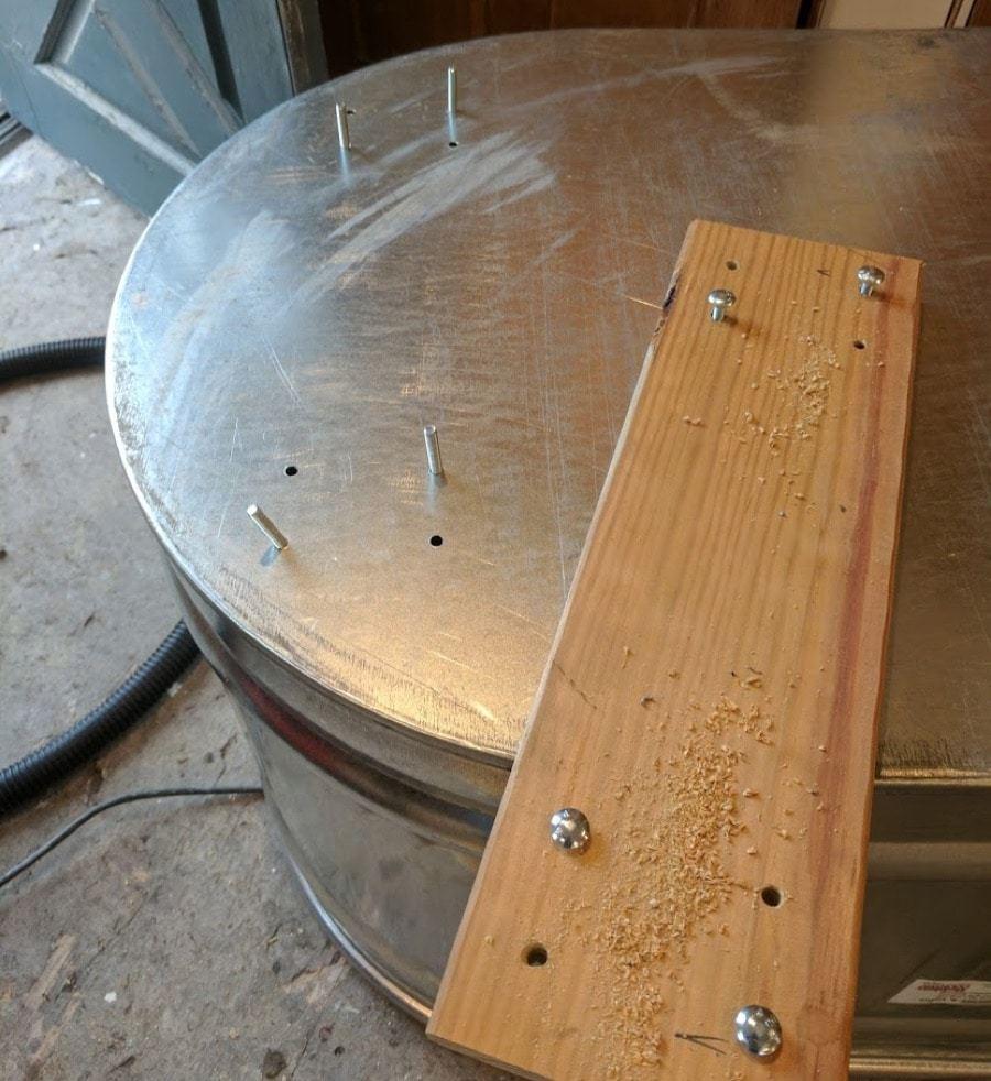 four bolt ends water trough planters