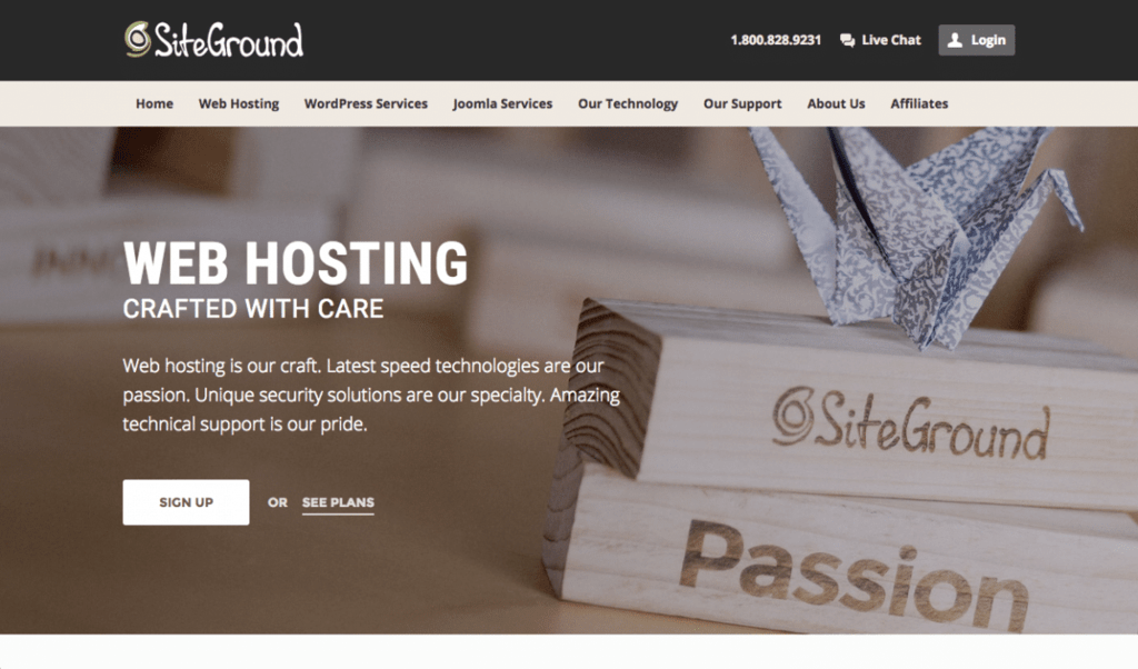 wordpress website siteground